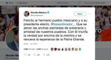 Nicolas Maduro-Lopez Obrador-Elecciones 2018