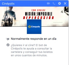 cinepolis-messenger-chatbot
