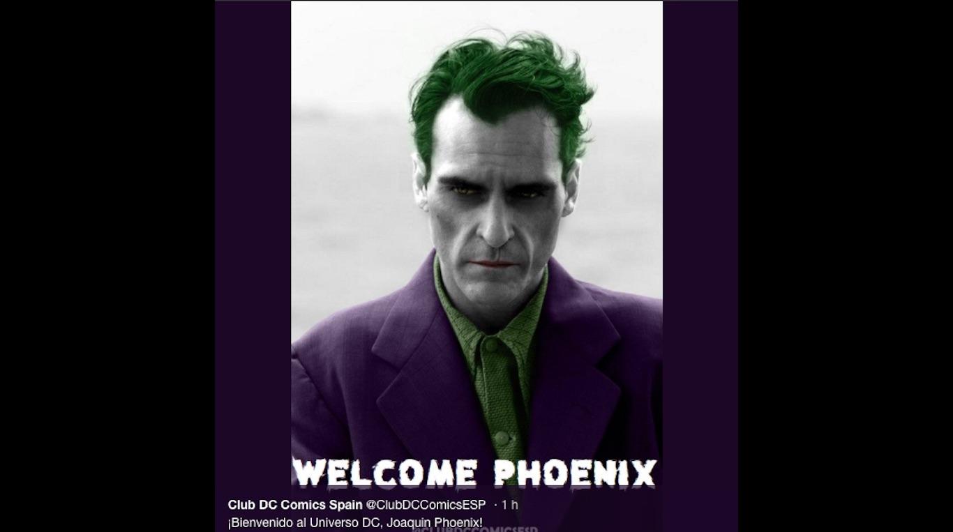 Warner Bros anuncia oficialmente a Joaquin Phoenix como el nuevo Joker