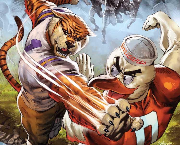 Marvel-ESPN-College Football-NCAA-futbol colegial-Short
