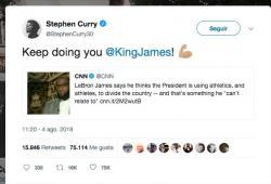 Stephen Curry-LeBron James-Donald Trump