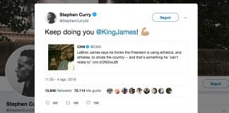 Stephen Curry-LeBron James-Donald Trump