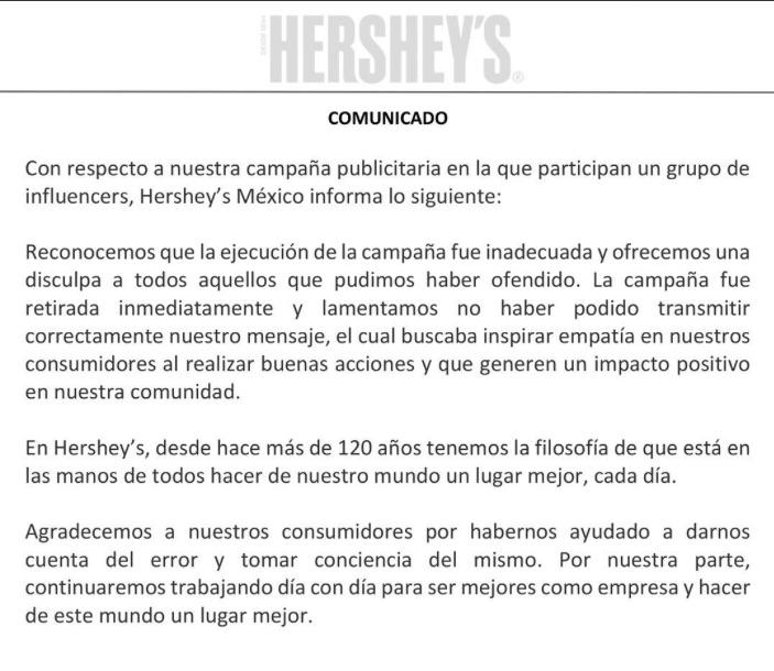 hersheys-comunicado