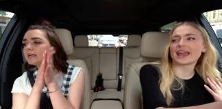 Apple-Carpool Karaoke-Maisie Williams-Sophie Turner