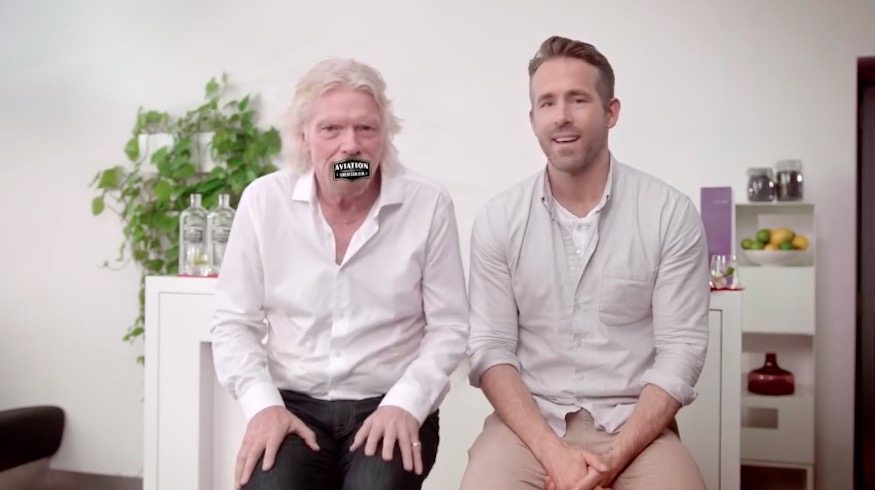 Virgin Atlantic-Aviation Gin-Ryan Reynolds