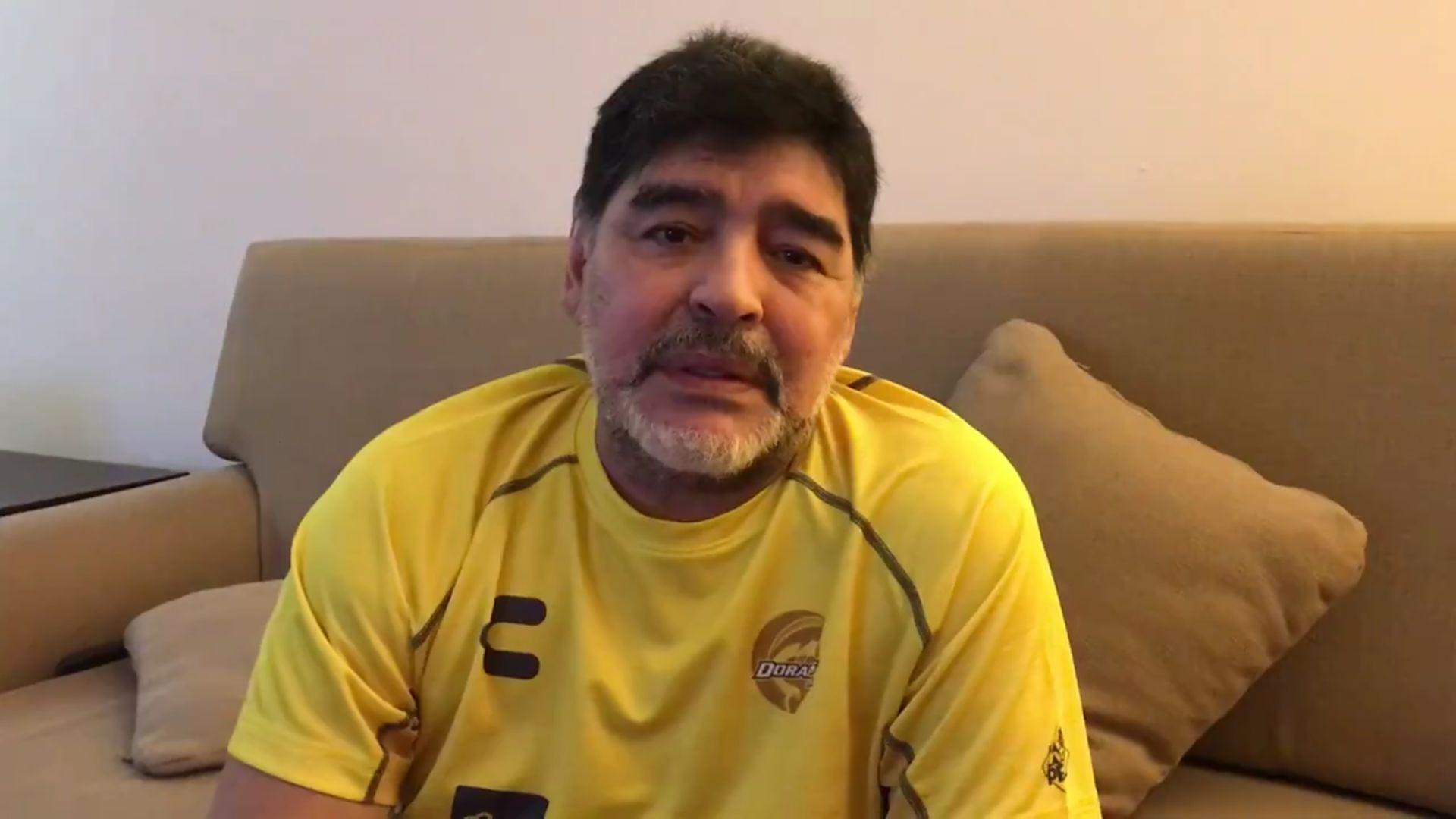 Diego Armando Maradona manda mensaje de apoyo a la gente de Sinaloa