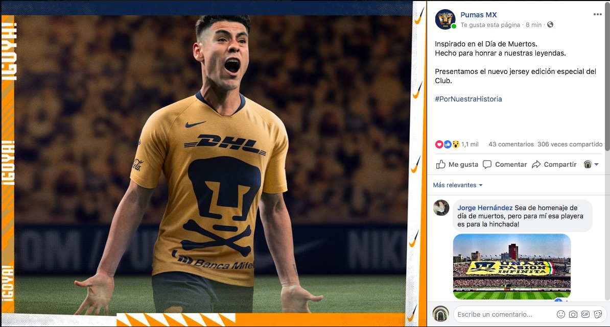 Maestros del marketing y rumores  Pumas lanza una playera de edición ... 4c30db13274ed