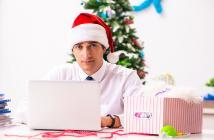 Compras de temporada de vacaciones navideñas