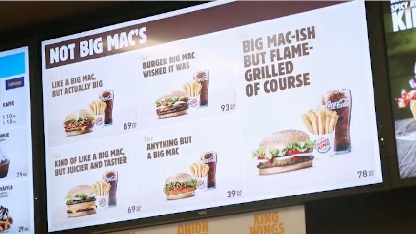Burger King–The Not Big Macs