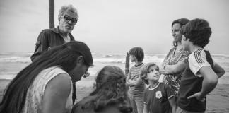 Alfonso Cuarón filmando Roma de Netflix