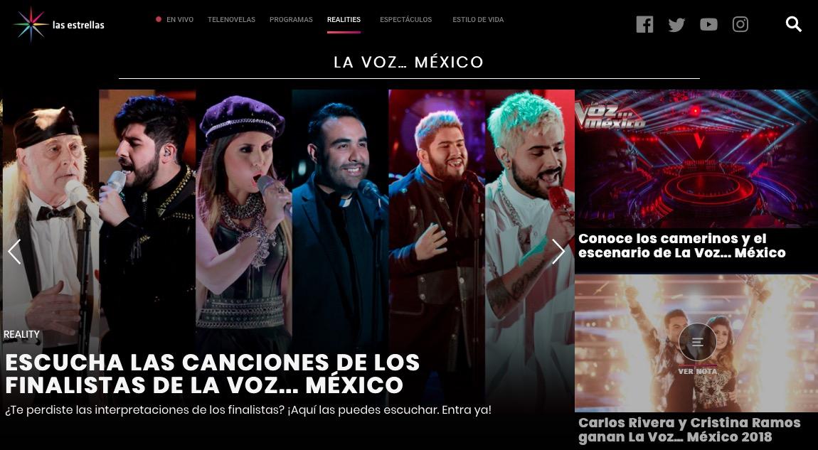 La Voz-Las Estrellas-Televisa