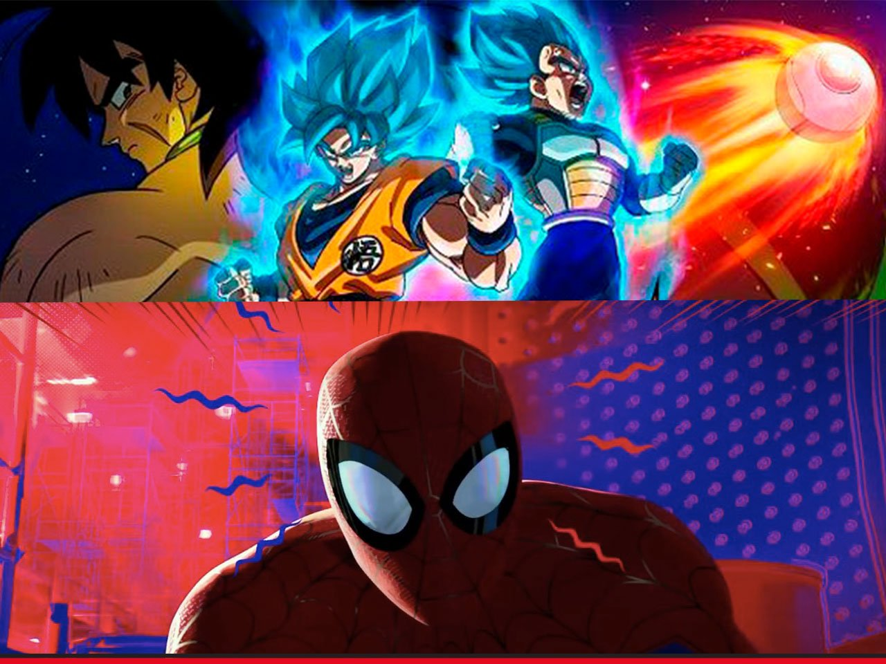 Dragon ball Super Broly Spiderman Into the Spirder verse