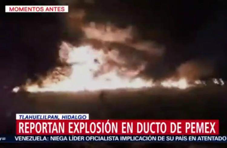 20 personas murieron tras explosión de un ducto de combustible en México