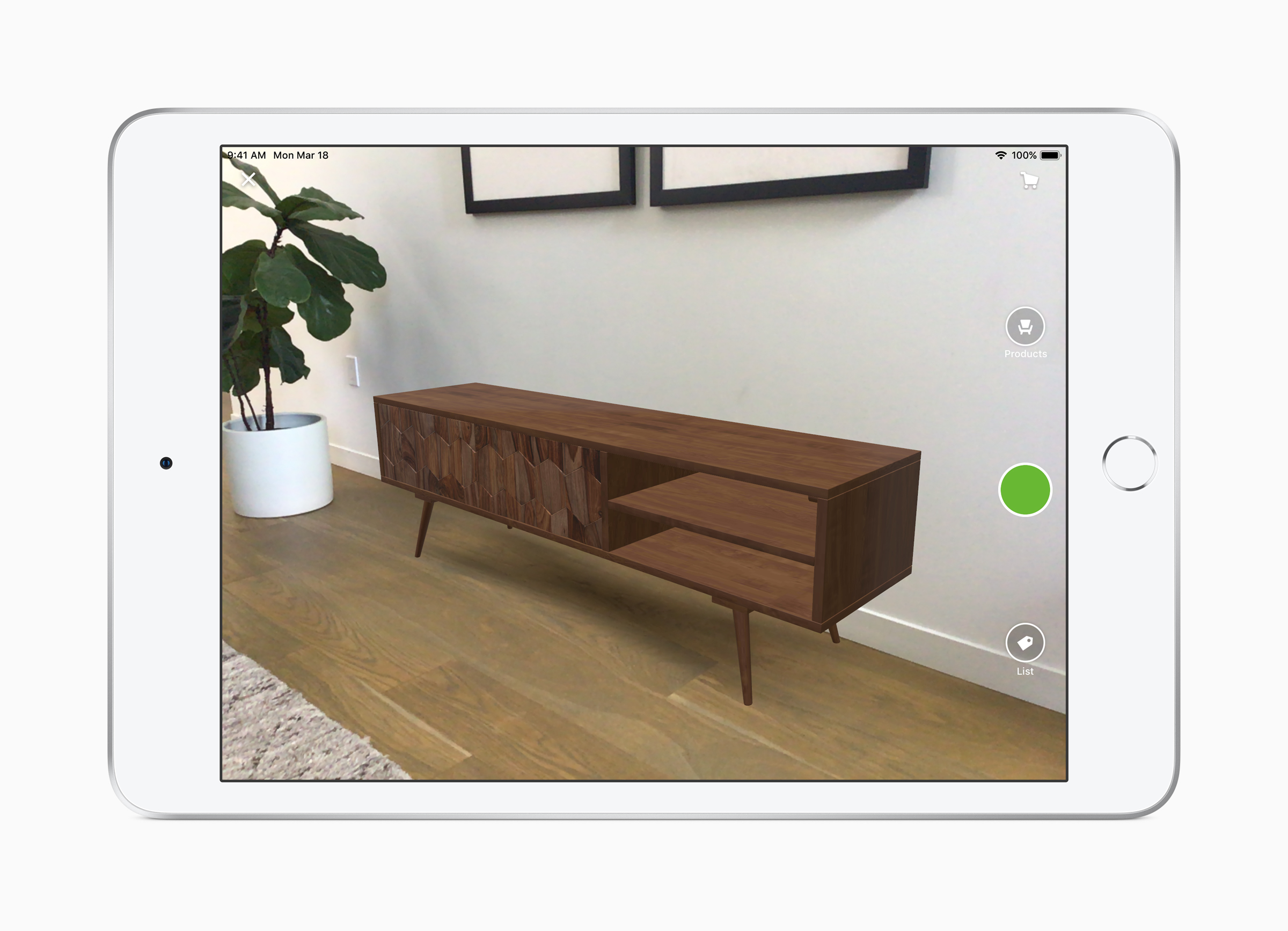 Apple-iPad Air-AR-screen