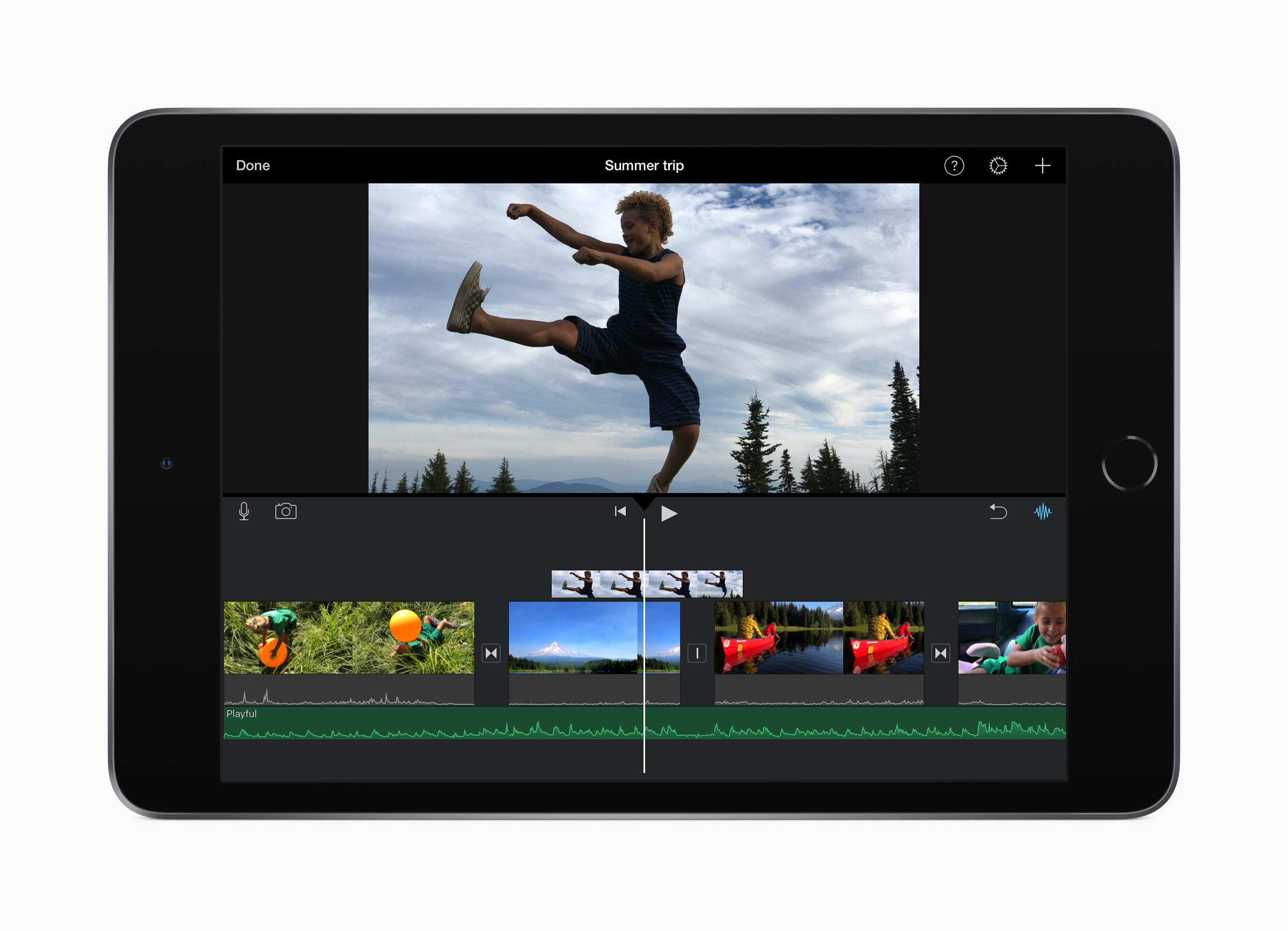 Apple-iPad Mini-iMovie