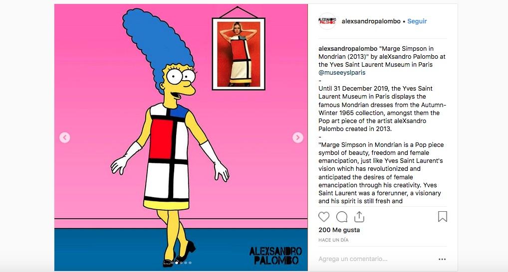 c7030f48b Visten a Marge Simpson de Yves Saint Laurent para esta campaña