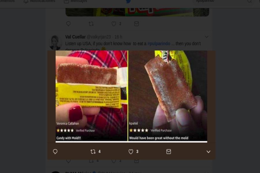 Estadunidenses compran Pulparindos y confunden azúcar con moho