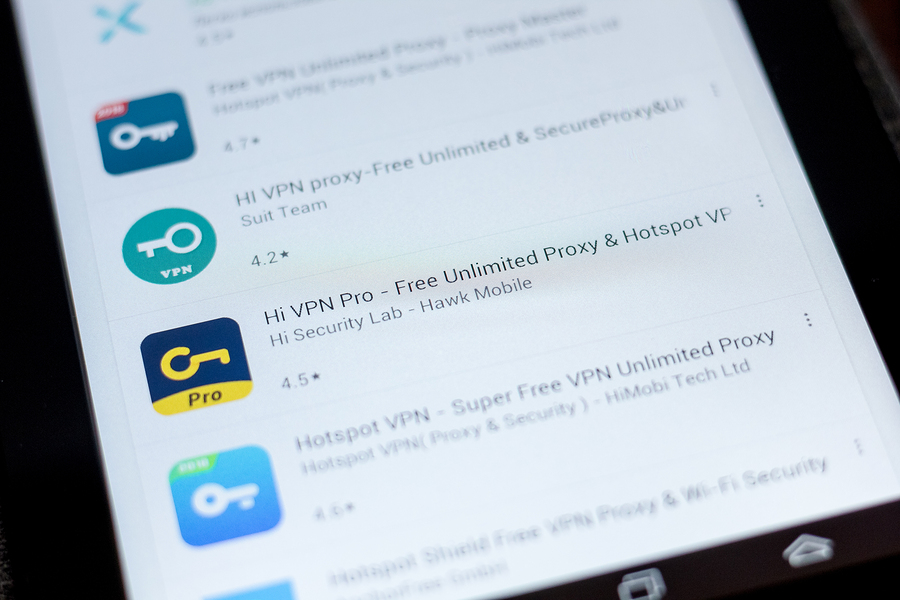 Pantalla que muestra VPN en Rusia