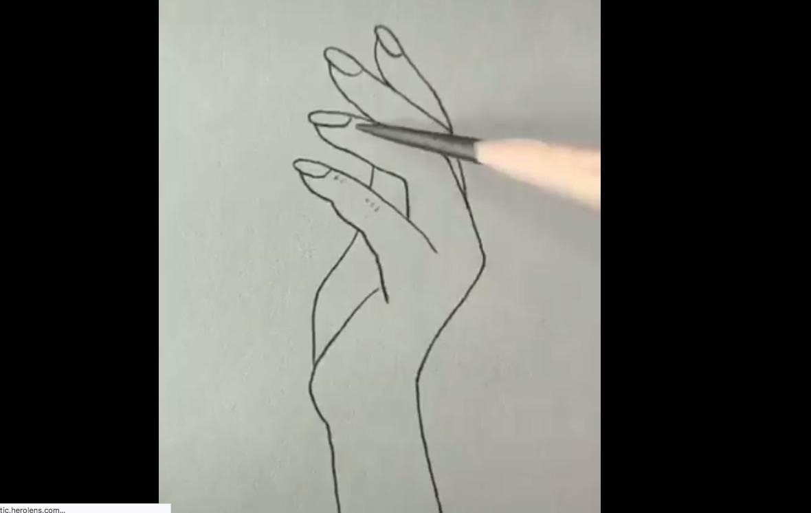 pintar una mano