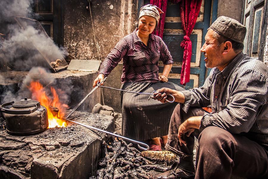 Pareja Uigur. Minoría china