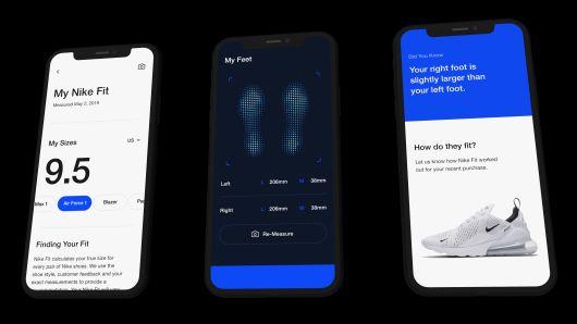Lanza Nike escáner para medir talla ideal de zapatos