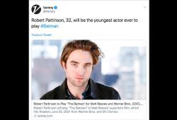 Robert Pattinson será Batman y la gente está cuestionando a DC la decisión