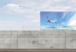 The over the wall billboard-AeroMéxico