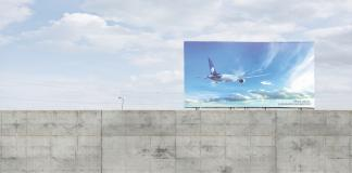 The over the wall billboard-AeroMéxico
