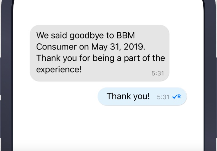 Blackberry Messenger ya no está más disponible