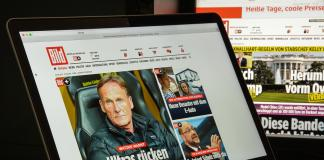 Bild website Axel Springer.