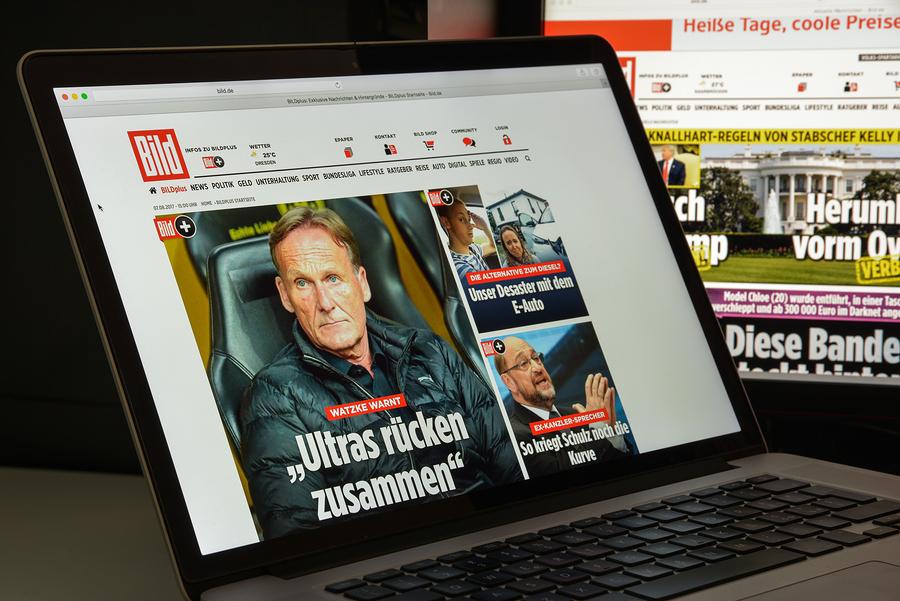 Bild website Axel Springer.