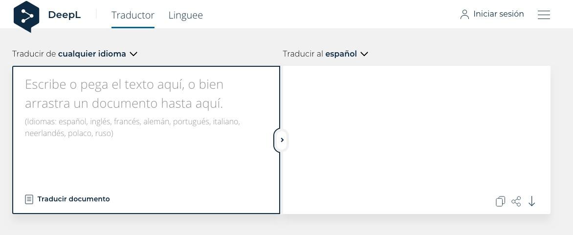 Sitio del día: Un traductor de texto alternativo a Google Translate