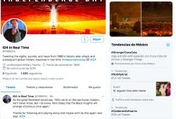 Hoy es 4 de julio y una cuenta de Twitter relata en tiempo real, los eventos de la cinta Día de la Independencia