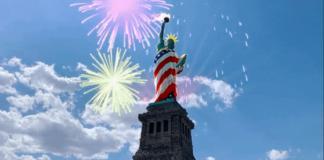 Snapchat se robó el 4 de julio con su activación de AR en la Estatua de la Libertad