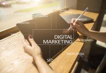 Digital Marketing Technology Concept. Internet. Online. Search E