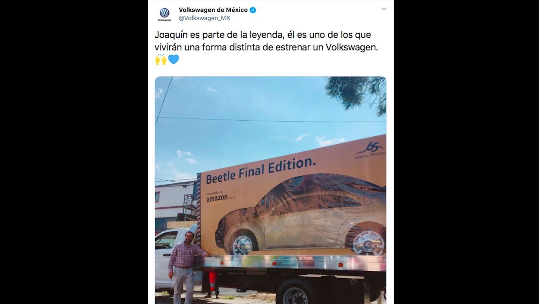 Amazon y Volkswagen marcan pauta: Entregan el primer auto adquirido en la plataforma