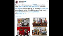 Lego pone a votación una posible edición especial de Frida Kahlo, Dalí, Warhol y Picasso