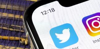 Twitter en smartphone