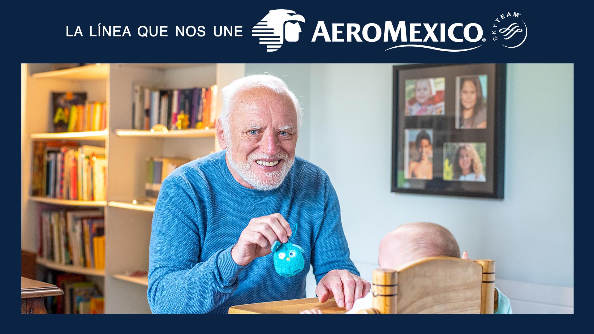 Harold, el señor del meme, es la estrella de esta campaña de Aeroméxico - Merca2.0
