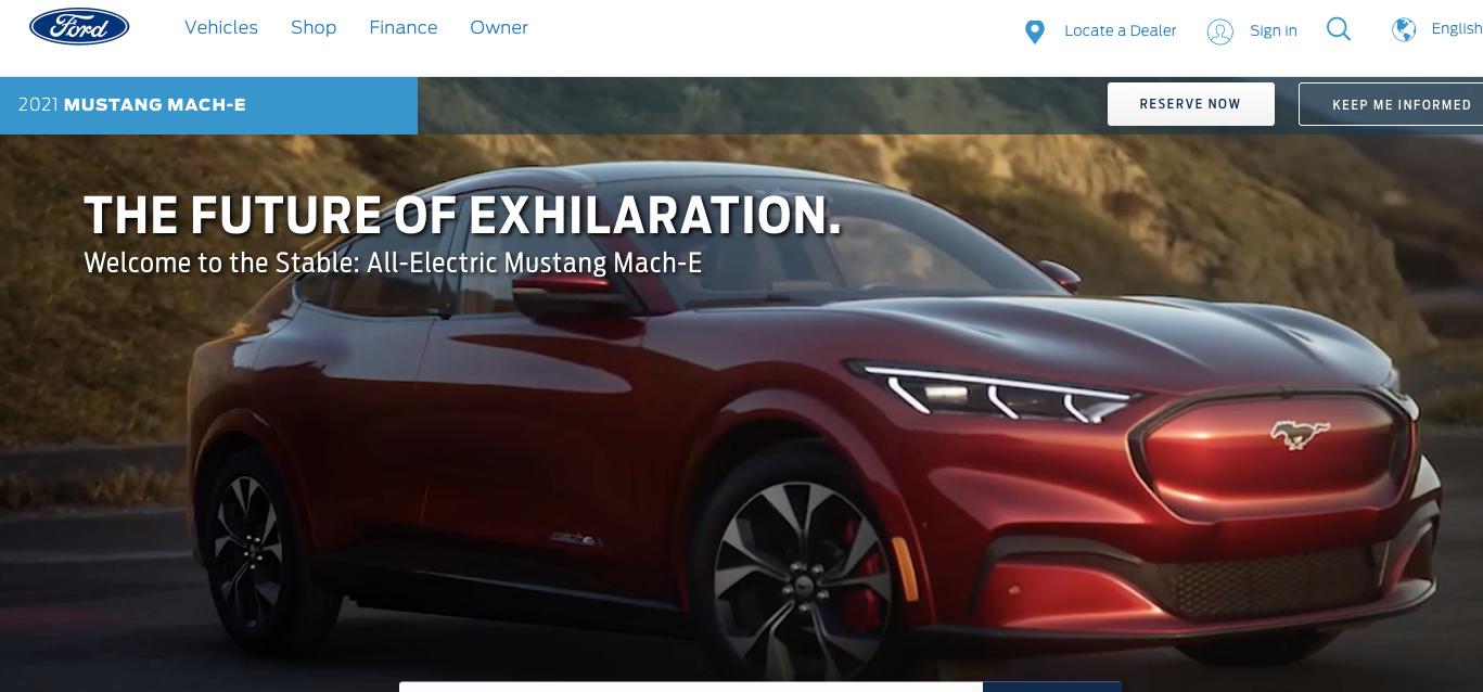 Así será el SUV eléctrico de Ford, con la marca Mustang.