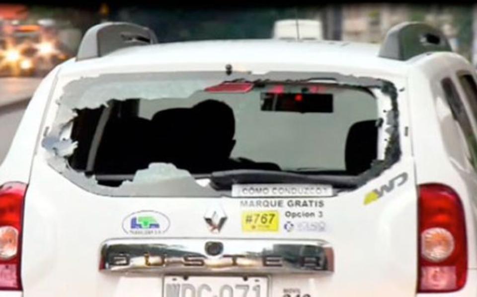 En Chile no ocurrió lo que en Colombia, donde las agresiones fueron frecuentes a carros de Uber en los primeros años.