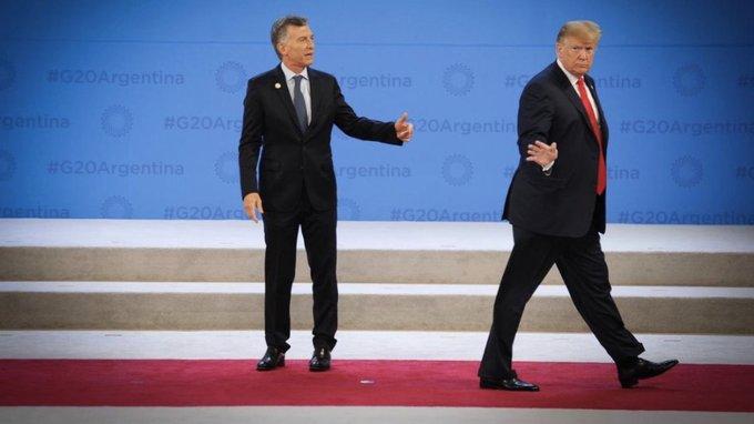 Macri y Trump durante el G20