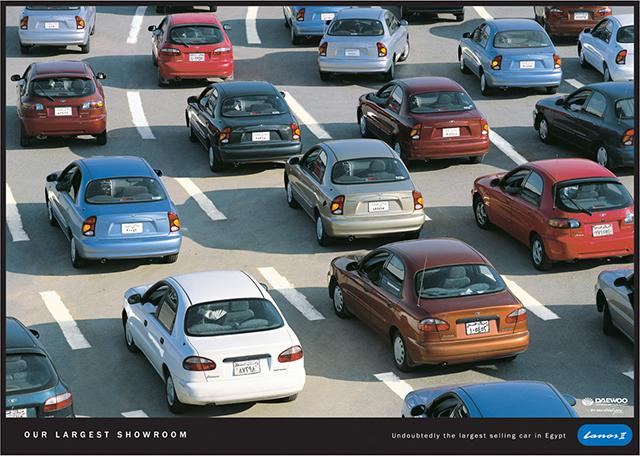 Publicidad gráfica de Daewoo de los años 90.