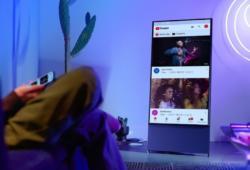 Samsung Sero-Smart TV vertical