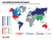 Los países que rechazan a Huawei