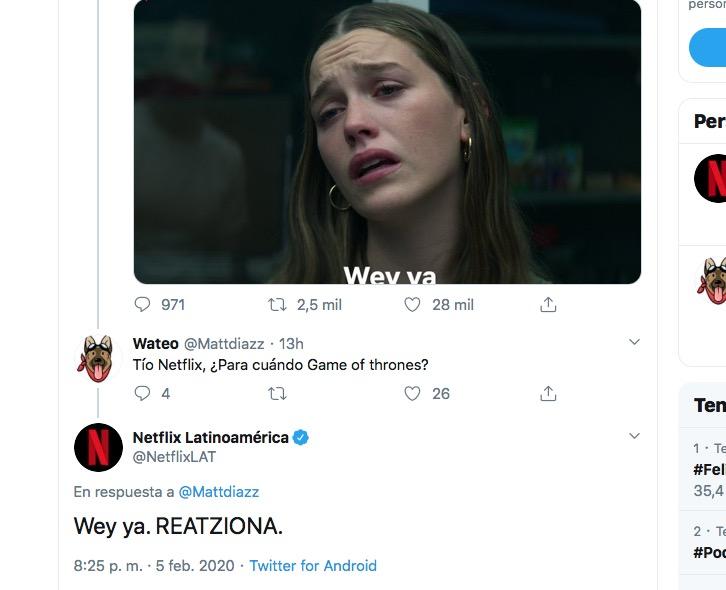 El CM de Netflix tiene una repetida negativa a tus ...