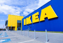 Nuremberg / Germany - April 7, 2019: Ikea Branch On A Warehouse