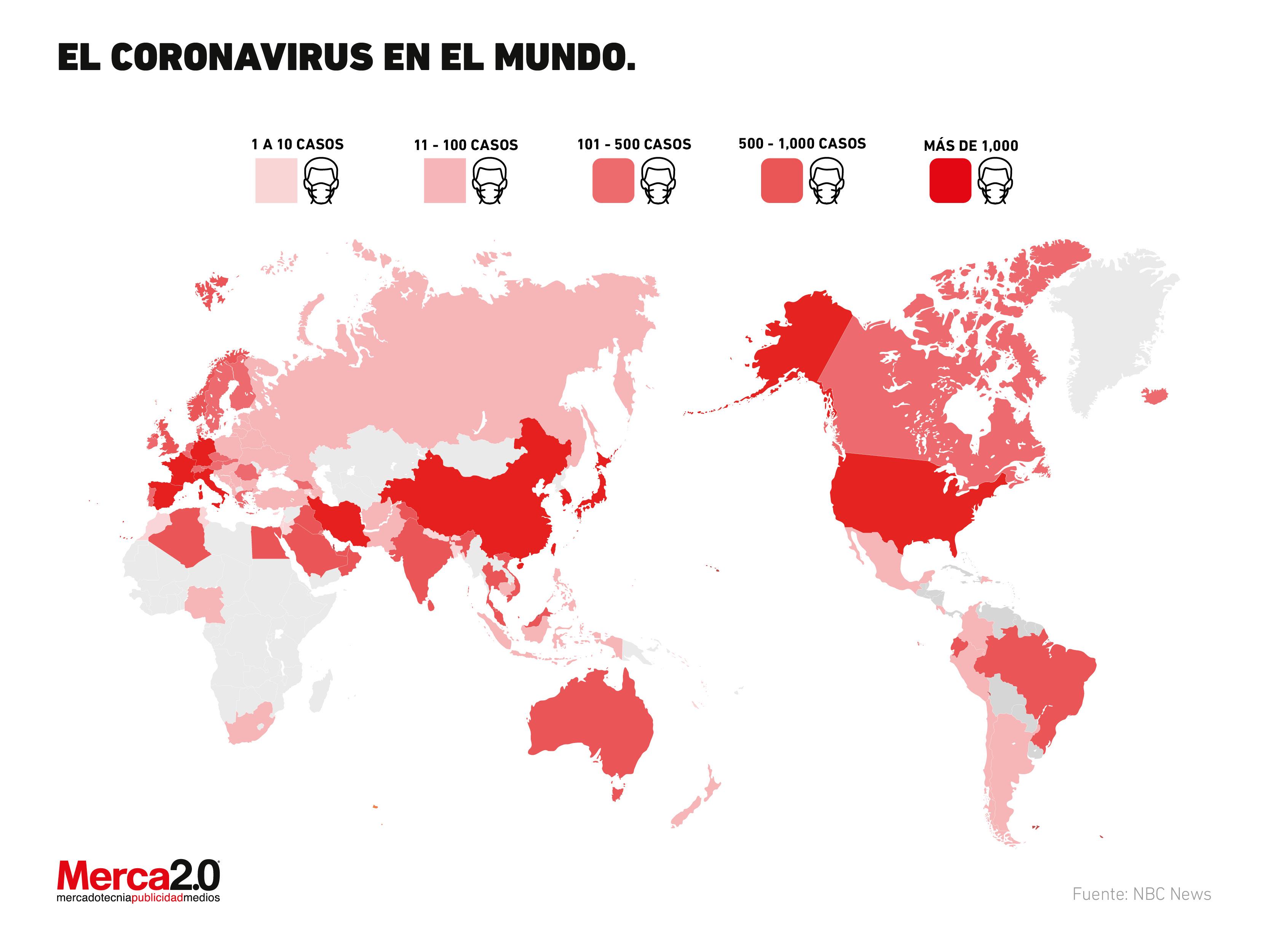 Coronavirus a nivel mundial