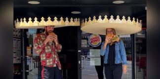 Burger King-social distance crowns