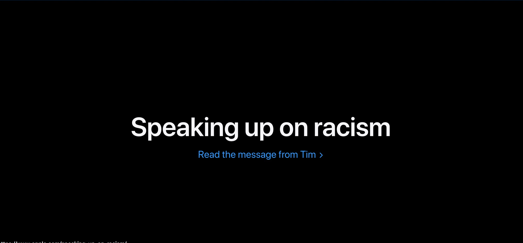Apple-carta contra el racismo-Tim Cook
